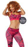 Zumba Fitness Kaleid-Oh-Scope Bra - Berry (CLOSEOUT)