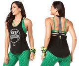 Zumba Fitness Keep Dancing Tank - Bold Black