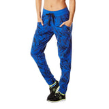 Zumba Fitness Let's Tassel Slim Fit Pants - Surfs Up Blue