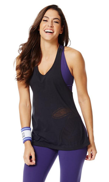 Zumba Fitness Loose Fitting Racerback - Back to Black