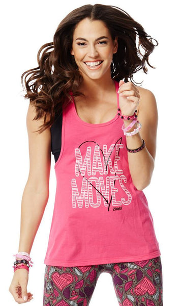 Zumba Fitness Party in Pink Loose Racerback - Berry