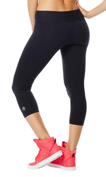 Zumba Fitness Perfect Capri Leggings - Sew Black