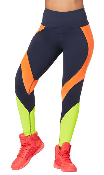 Zumba Fitness Pop Panel Ankle Leggings - Midnight