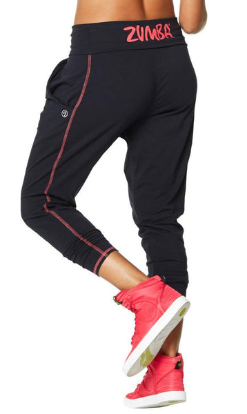Zumba Fitness Pumped Up Harem Pants - Back to Black
