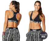Zumba Fitness Repstyle Reversible V-Bra - Back to Black (CLOSEOUT)