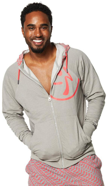 Zumba Fitness Repstyle Zip Up Hoodie - Thunderin Gray