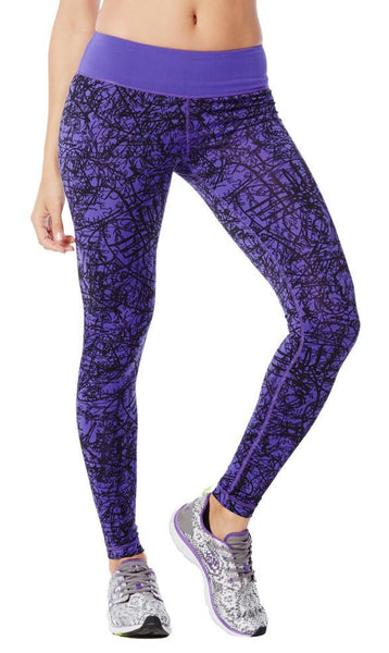 Zumba Fitness Scribble Perfect Long Leggings - Purple Moon