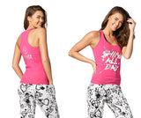 Zumba Fitness Shine All Day Racerback - Berry