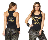 Zumba Fitness Shine All Day Racerback - Bold Black
