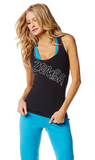 Zumba Fitness Slim Shaded Racerback - Sew Black (CLOSEOUT)
