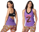 Zumba Fitness Sparkle On Halter Top - Lady Lavender