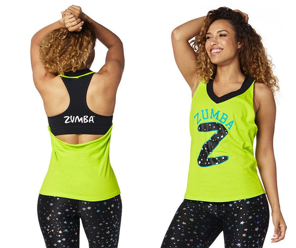 Zumba Fitness Sparkle On Halter Top - Zumba Green