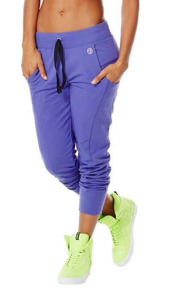 Zumba Fitness Sweat It N Forget It Crop Pants - Purple Moon