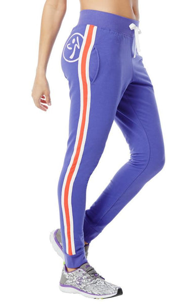 Zumba Fitness Z French Terry Pants - Purple Moon (CLOSEOUT)