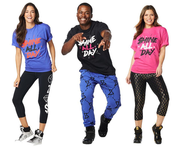Zumba Fitness Shine All Day Tee T-Shirt