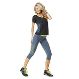 Zumba Fitness Craveworthy Capri Leggings - Slate