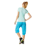 Zumba Fitness Hang Loose Harem Capri Pants - Bangin Blue
