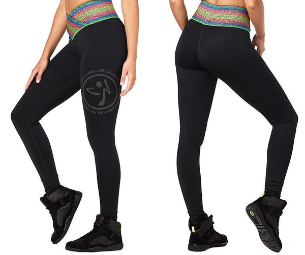 Zumba Fitness Inspire High Waist Long Leggings - Bold Black