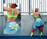 Zumba Fitness Less Talk More Dance Bra - Get In Lime