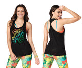 Zumba Fitness Original Twisted Back Tank - Bold Black