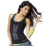Zumba Fitness Rock With Me Racerback - Black