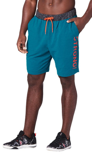 Zumba Fitness STRONG By Zumba Squat Sync Sweat Men's Shorts - Deep Emerald