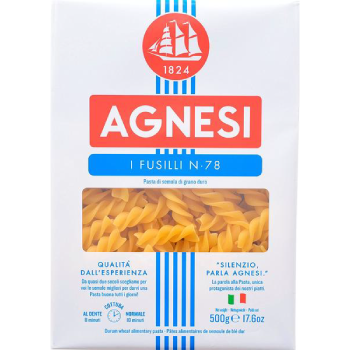 Agnesi Fusilli Pasta, 500 Gms - 3 Months Subscription - FoodNosh