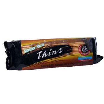 Master Rice Thins Flavour Rice Snacks - BBQ, 100 Gms - FoodNosh