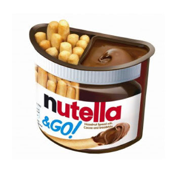 Ferrero Nutella & Go Hazelnut Spread & Malted Bread sticks, 52 Gms! - 3 Months Subscription - FoodNosh