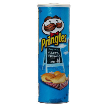 Pringles Potato Chips, Salt and Vinegar, 165 Gms - 3 Months Subscription - FoodNosh
