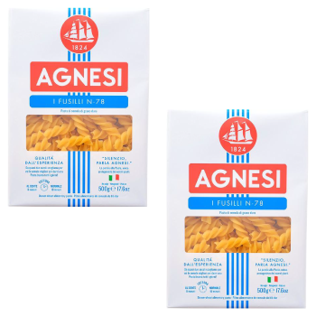 Agnesi Fussili Pasta, 500g : PACK OF TWO - FoodNosh