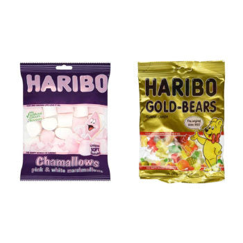 Haribo Combo : Gold Bears, 175 Gms + Chamallows, 150 Gms - FoodNosh