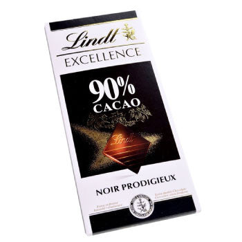 Lindt Excellence 90% Cocoa Mild Chocolate Bar, 100 Gms - 3 Months Subscription - FoodNosh