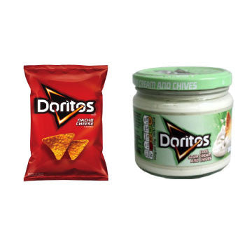 Doritos Nacho Cheese, 191 Gms & Doritos Cool Sour Cream & Chives, 300 Gms - FoodNosh