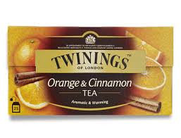 Twinings Orange and Cinnamon Tea, 25 Packets - FoodNosh