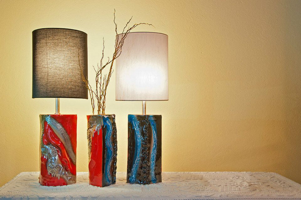 Red Earth, Blue Sea Lamps