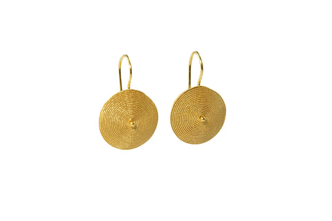 Corbula Gold Filigree Drop Earrings