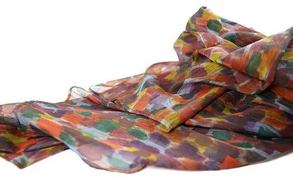 Hand Painted Silk Scarf