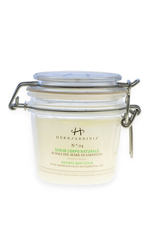 N°24 NATURAL BODY SCRUB WITH SARDINIAN SALTS & ESSENTIAL OILS