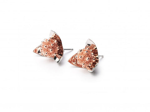 MINIPETALO Earrings - Silver&Rose