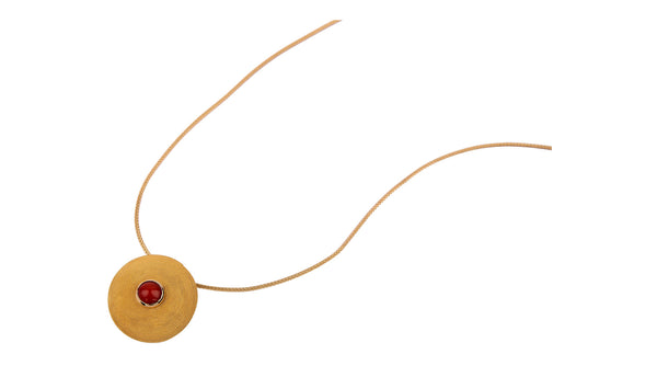Corbula Coral Necklace With Gold Filigree