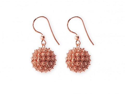 RAGNETTI SHORT Earrings - Silver&Rose