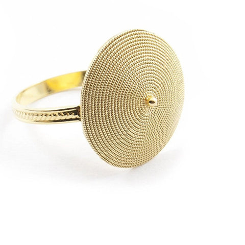 Corbula Ring in Gold Filigree