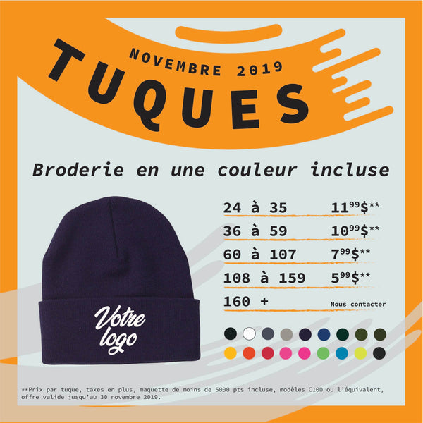 NOVEMBER SPECIAL TUQUES !