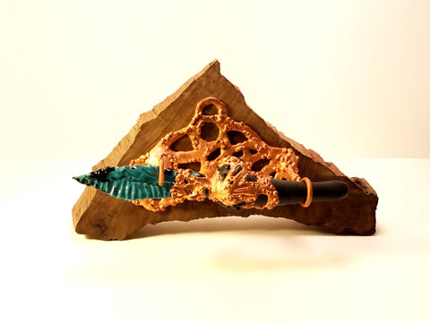 Electroformed Turquoise Knife Pipe
