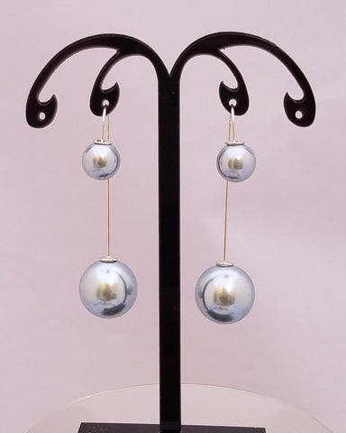 Double Pearly Earrings