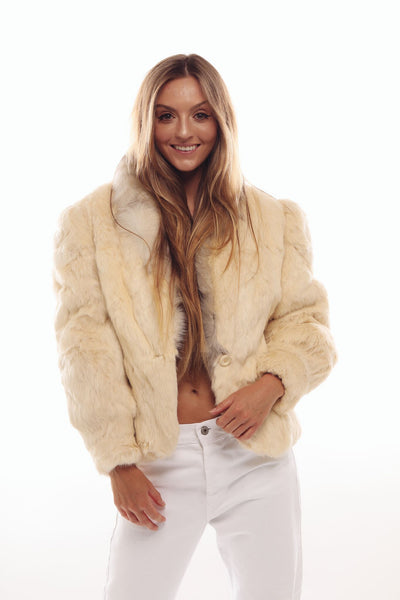 Vintage White Fur Jacket