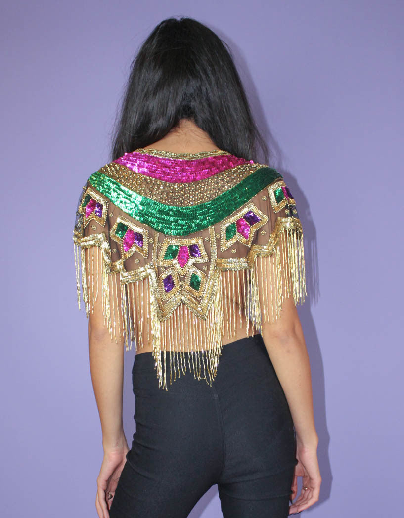 Mardi Gras Shimmer and Shine Top