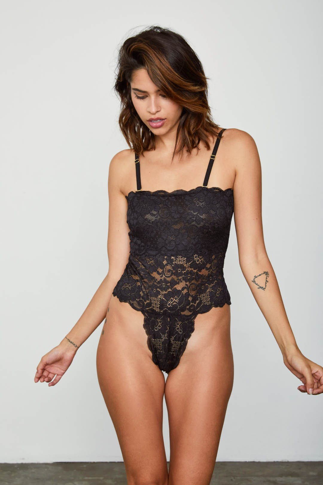 Spinster Reversible Bodysuit | Noir Black