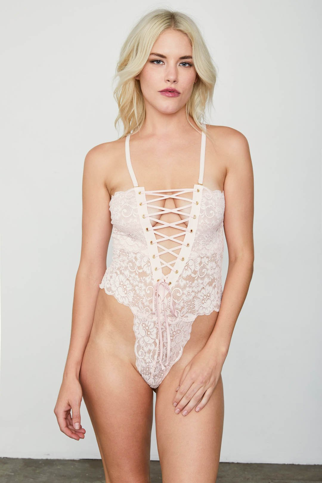 Spinster Reversible Bodysuit | Naked Truth Pink